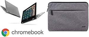 """Acer Chromebook Spin 311 Convertible Laptop, Intel Celeron N4020, 11.6"""" HD Touch with 11"""" Protective Sleeve"""