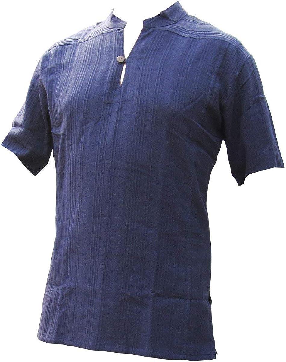 PANASIAM - Camisa Casual - Corte Amplio - Manga Corta - para Hombre