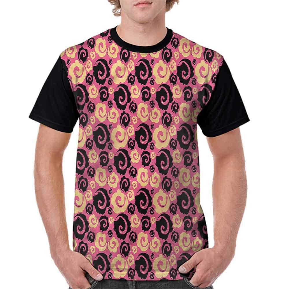 Unisex T-Shirt,Vintage Roses Fashion Fashion Personality Customization