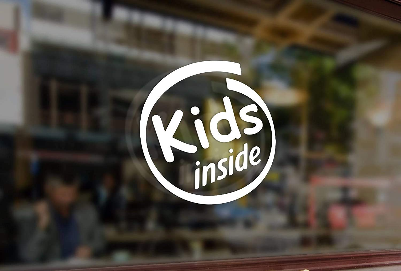 Sto/ßstange Glas Lplpol Premium Anti-Staub-Vinyl-Aufkleber Kinder Inside Children On Board Vinyl-Aufkleber Fenster lustiger Aufkleber 15,2 cm Computer Auto Laptop Wand