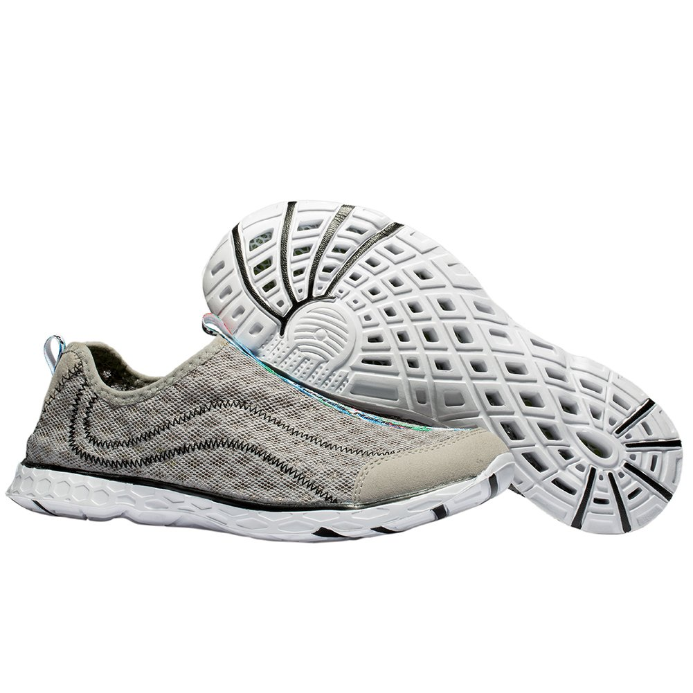 Raotes Quick Drying Aqua Water Shoes - Beach Walking Amphibious Shoes for Men Grey 45 by Raotes (Image #7)