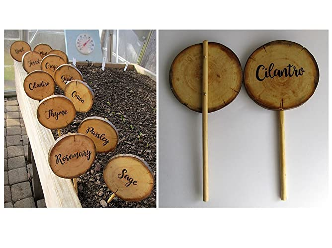 Herb Garden Marker, Wood Garden Stakes, Vegetable Markers, Custom Garden  Signs, Wood