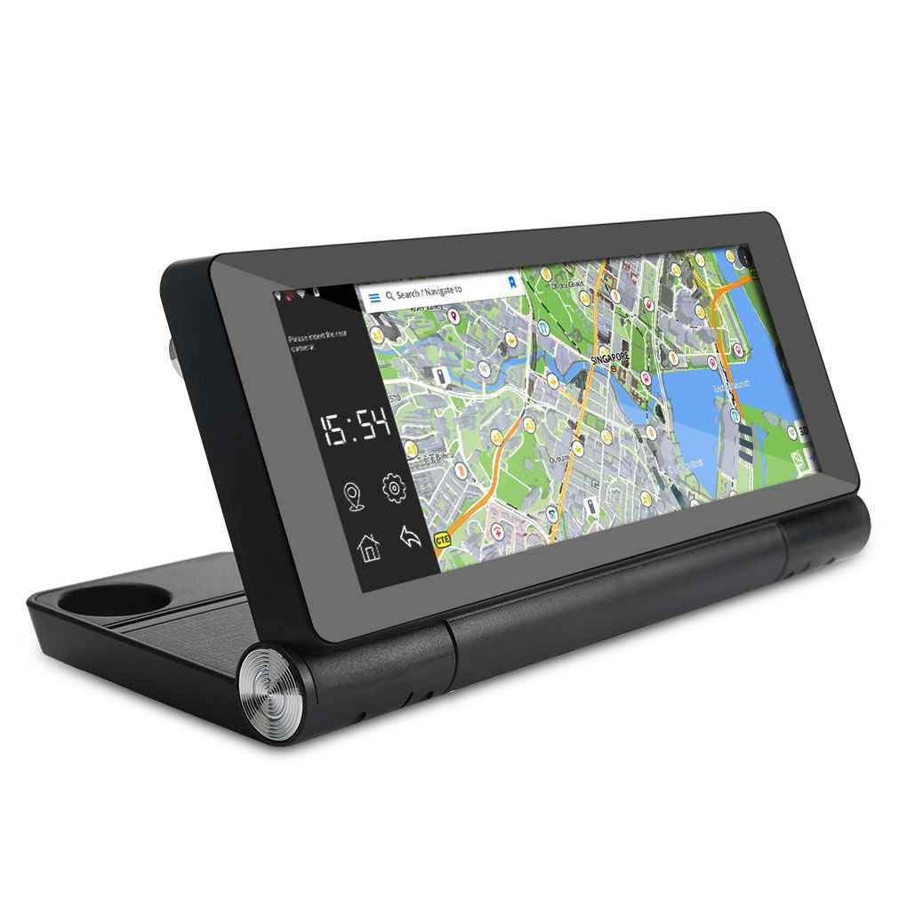 Egal 7' HD Touch Screen Android Dual Lens WiFi Bluetooth Car DVR Navigation GPS Recorder with Reverse Camera M-Egal