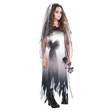 12 14 years girls teens graveyard corpse bride zombie fancy dress costume monster bride