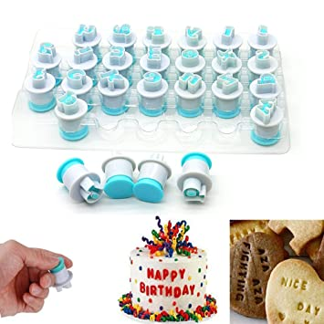 Amazing Letter Molds For Fondant Womdee Cookie Mould Cutter Letters 26Pcs Funny Birthday Cards Online Hendilapandamsfinfo