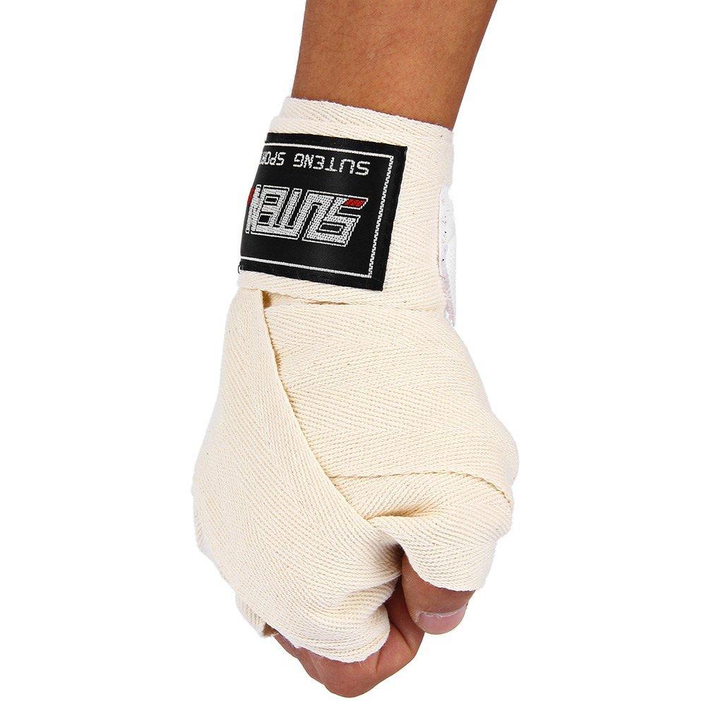 1ペア横幅5 cm長さ2.5 M綿フィットネスボクシング包帯三田HandwrapテコンドームエタイMMA手手袋 B01EVE4EN4