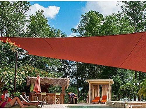 QHGao Toldo De Protección Solar contra Rayos UV Cuadrado Rojo, Polietileno De Alta Densidad, Vela Sombreada 90% De Protección UV, Adecuado para Patio Al Aire Libre Patio Jardín Pérgola,2x4M: Amazon.es: Hogar