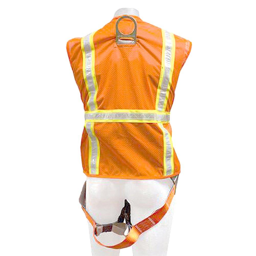 Madaco Roof Construction Fall Protection Heavy Duty Full Body Industrial Safety Harness Size M ANSI OSHA H-TB201-AV-M Fusion