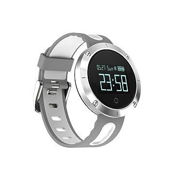 Rastreador de actividad física Reloj inteligente, Rastreador de actividad Reloj Presión arterial Monitor de frecuencia cardíaca Fitness Salud Pantalla ...