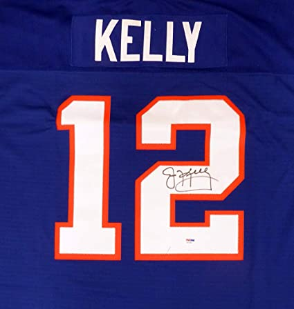13d4ccdb9 Image Unavailable. Image not available for. Color  Buffalo Bills Jim Kelly  Autographed Blue Mitchell   Ness Jersey ...