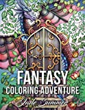 img - for Fantasy Coloring Adventure: A Magical World of Fantasy Creatures, Enchanted Animals, and Whimsical Scenes book / textbook / text book