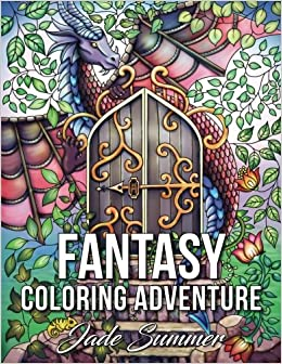 fantasy coloring adventure a magical world of fantasy creatures enchanted animals and whimsical scenes large print - Fantasy Coloring Book