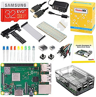 CanaKit Complete Starter Kit for Raspberry Pi 3 Model B+ 32GB EVO Edition