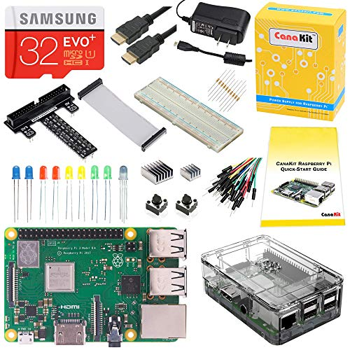- CanaKit Raspberry Pi 3 B+ (B Plus) Ultimate Starter Kit (32 GB Edition, Clear Case)