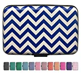 RFID Credit Card Case Protector Wallet by Travel SAFE Gear (Hamptons Blue)