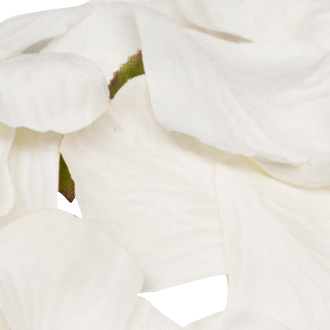 Box 25 ivory organza 7 x 5cm bags dried red rose petals wedding confetti throws