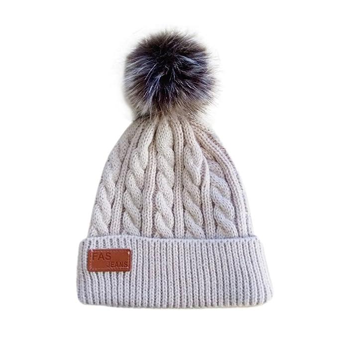 Sonnena Baby Mütze Hüte Fellball Wintermütze Warme Schlupfmütze ...