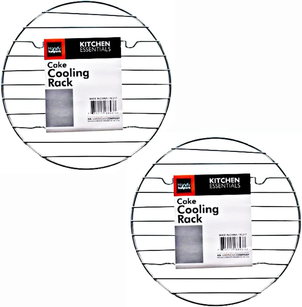 "Kitchen Essentials 8"" Round Steam Rack Cake Cooling Rack Chrome (2-Pack)"
