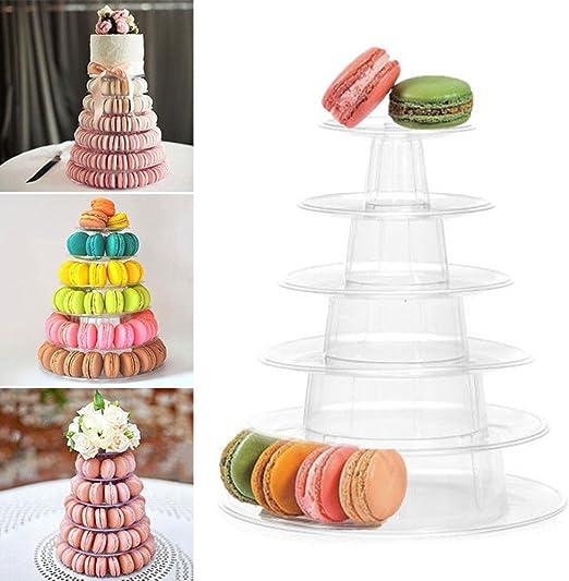 Amazon Com Swovo Cake Stand Dessert Tower Stand 6 Tier Macaron Tower Clear Round Wedding Valentine S Day Birthday Display Cake Stands