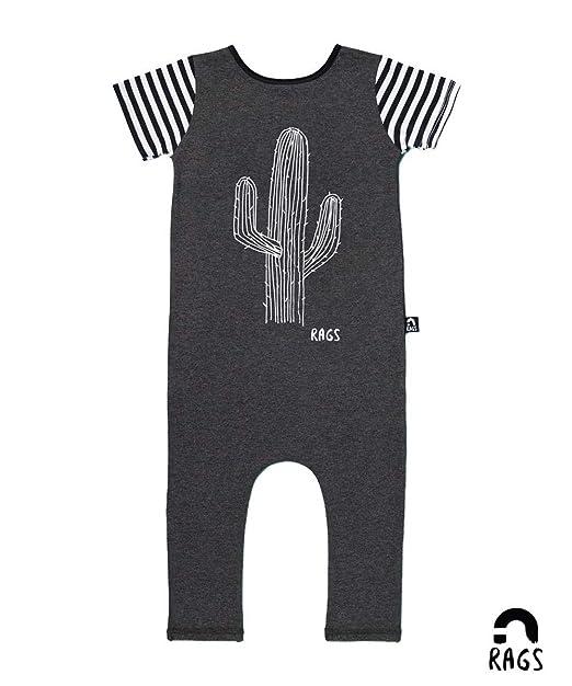 d6f1070b611f RAGS Unisex Kid s Romper -  Cactus  - Short Sleeve (Elastic Neckline Onesie