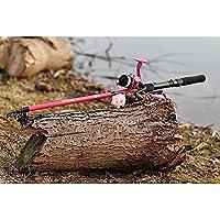 Matt Hayes Adventure Canne à pêche télescopique pour enfant avec moulinet Rose 1,8m