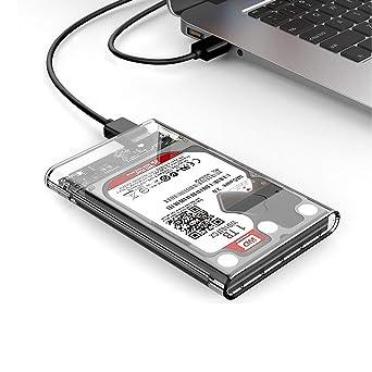 Carcasa para disco duro USB 3.0 a SATA HDD SSD (2.5 pulgadas ...