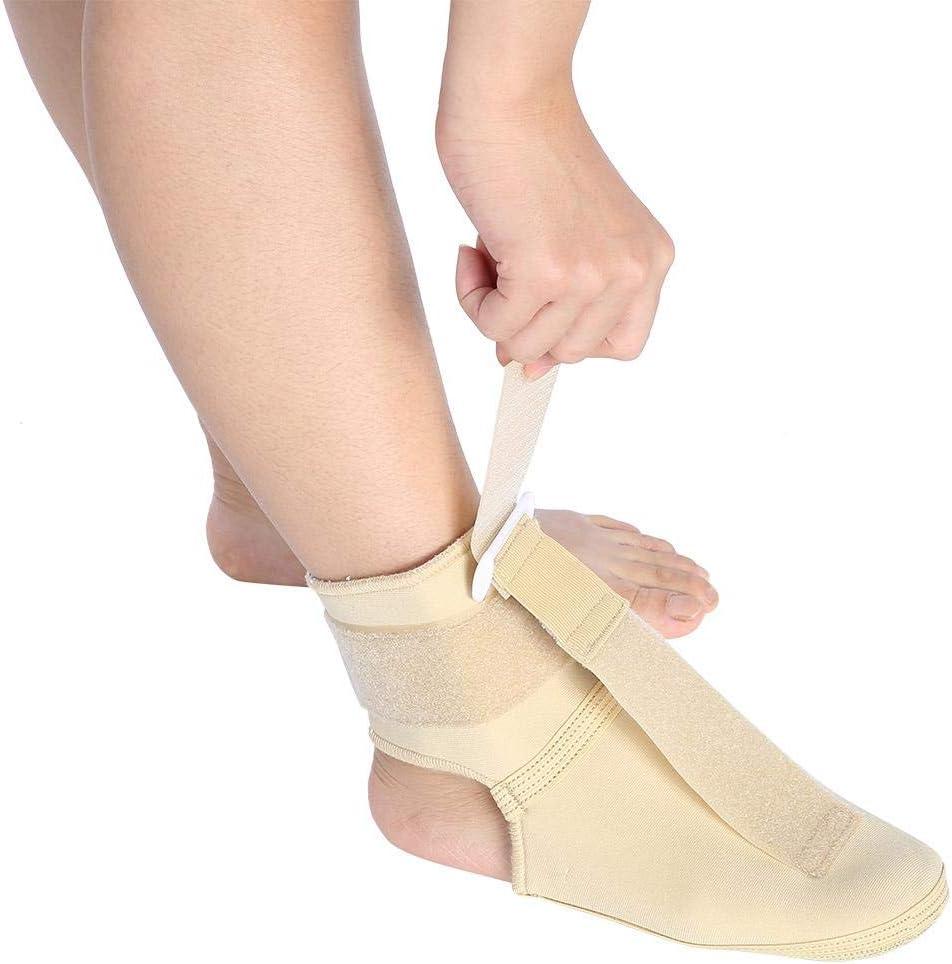 Soporte para las articulaciones del tobillo Caída ajustable del pie Ortesis Brace Pie Transpirable Calcetines de compresión ajustables antideslizantes Soporte para los pies Estabilizador de(M)