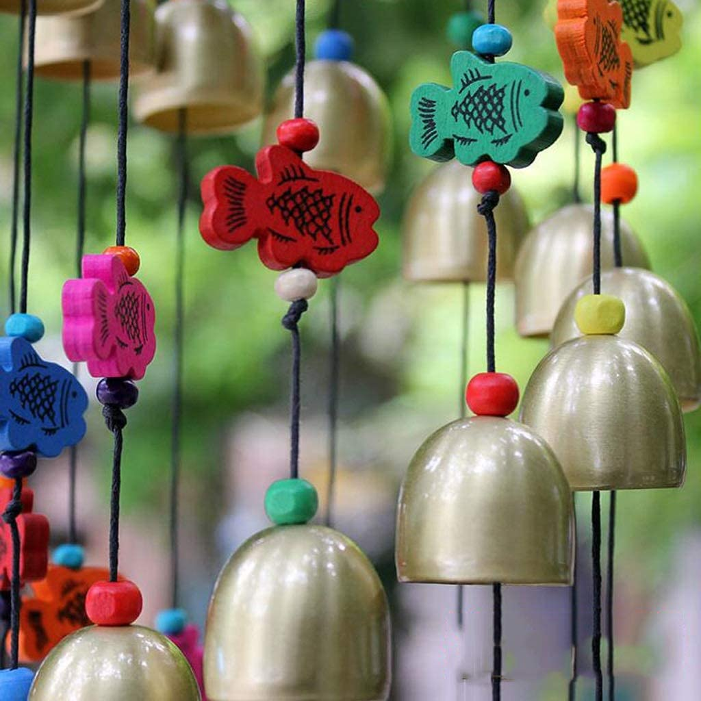Wind chimes Wind Chime Hanging Pendant Balcony Living Room Decoration Gourd Dragon Metal Bell Creative Children Birthday Gift Door Decoration