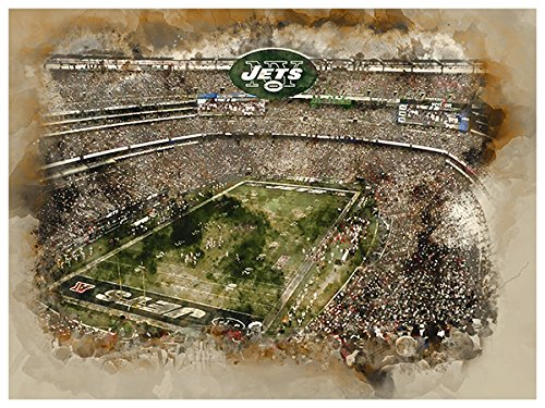 Atlas New York Jets Poster Watercolor Art Print 12x16 Wall - New Art York Jets