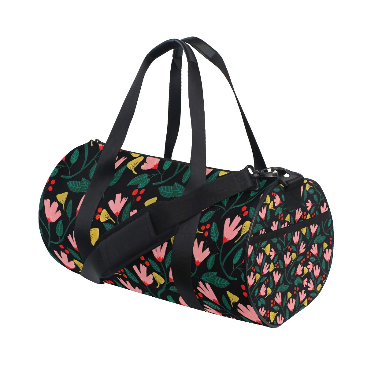 OuLian Women Gym Bag Summer Floral Mens Camp Duffel Bags Duffle Luggage Travel Bag