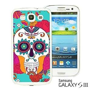 OnlineBestDigitalTM - Flower Pattern Hardback Case for Samsung Galaxy S3 III I9300 - Red Rose With Skull