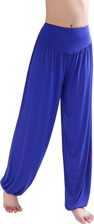 BienBien Pantalones de Yoga Elástico Pantalones Danza del Vientre Harem Hip Hop Pantalón Polainas Largos Holgados por Pijama Pilates Fitness