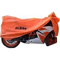 EASY4BUY® Bike Body Cover with Mirror Pockets Orange - KTM Duke/RC/RC 390