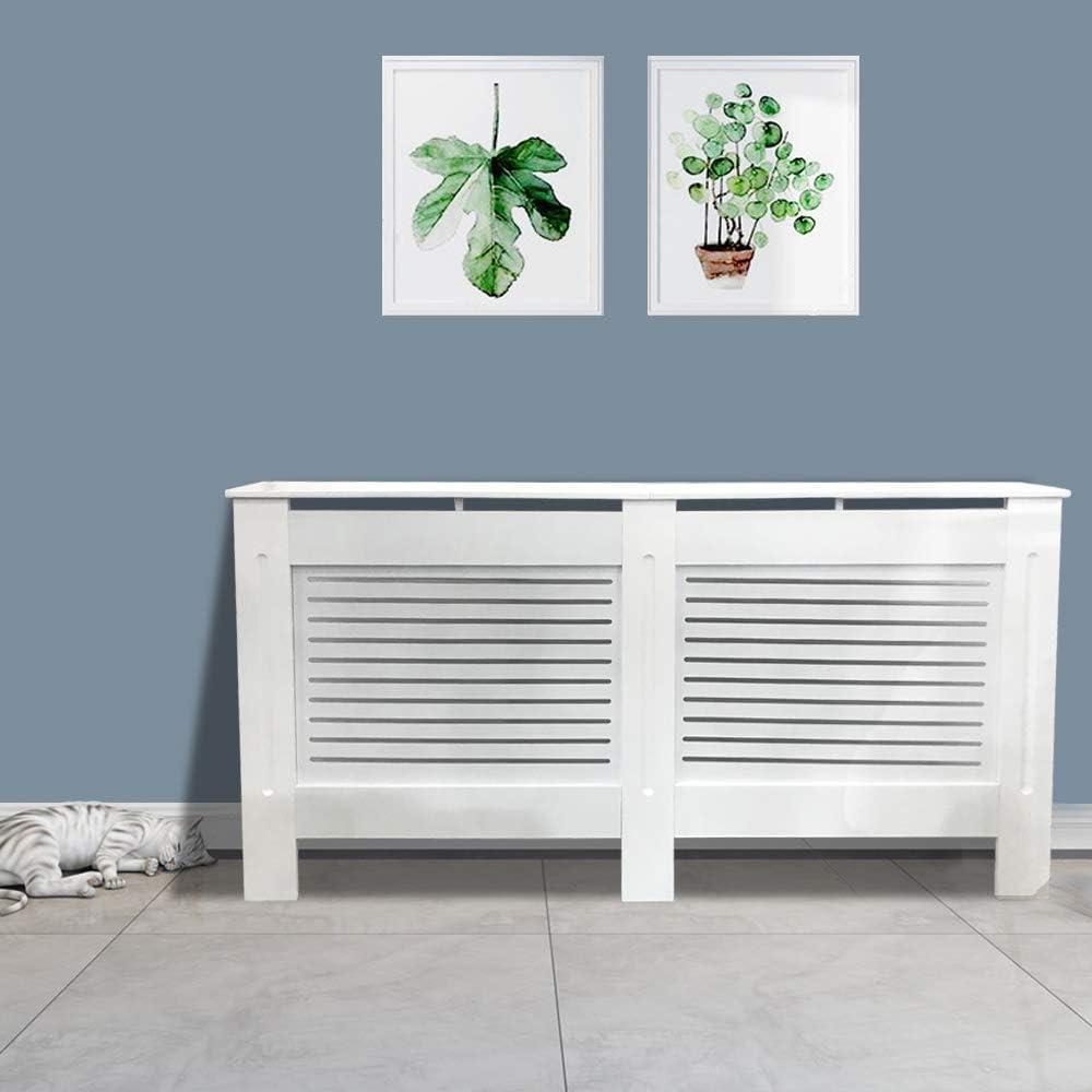 mm Medium 1120 x 815 x 190 Horizontal Slats White MDF Greenbay Painted Radiator Cover Radiator Cabinet