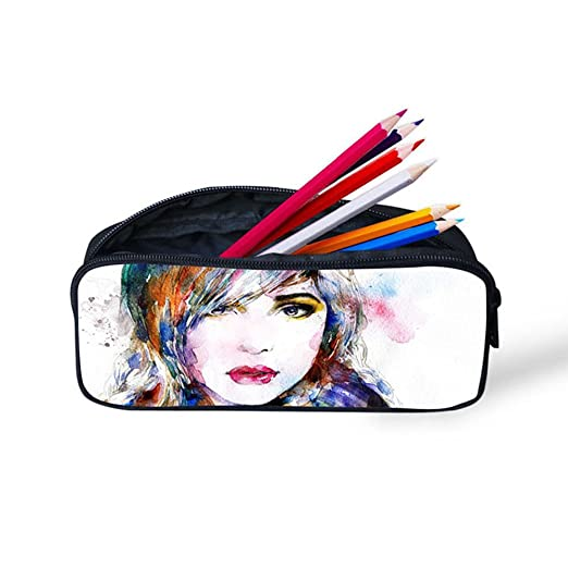 a0bff4acfeb1 Amazon.com   Pencil Case for Children Generic 3D Printing Cute Simple  Durable Pencil Bag for Office (Girls 1)   Office Products