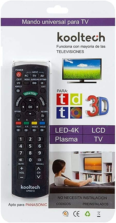 Kooltech 017218 Mando Universal Panasonic/100, Talla única (CPM313): Amazon.es: Electrónica