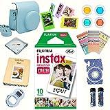 12 Piece Fujifilm Instax Mini 8 Accessories Bundle Mini 8 Camera BLUE Accessories Kit Includes, 20 Instant Film, Mini 8 Case, Album, Selfie Lens, 4 Color Filters, 5 Plastic Frames, 20 Stickers + MORE