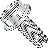 Zinc Plated Pack of 25 Steel Thread Rolling Screw for Metal Small Parts 3110RSW Hex Washer Head Slotted Drive 5//16-18 Thread Size 5//8 Length Pack of 25 5//8 Length 5//16-18 Thread Size