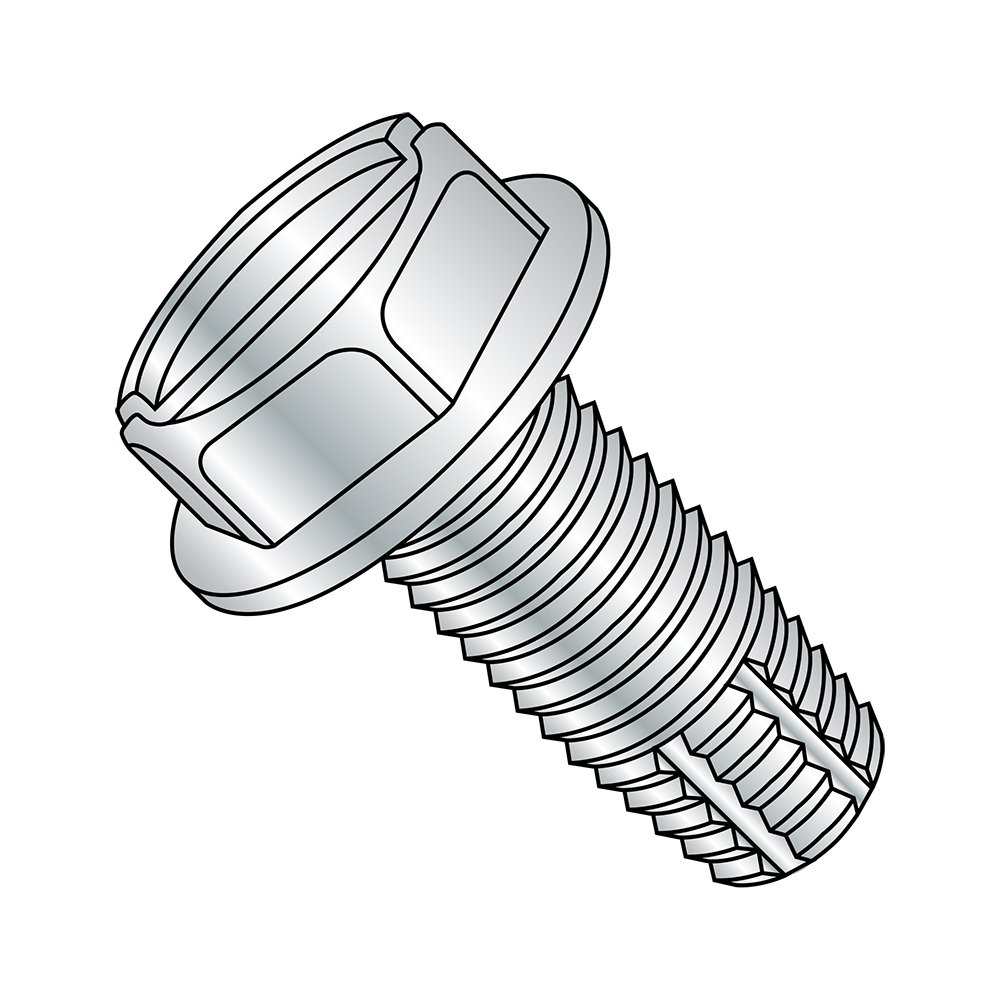 Hex Washer Head 3//4 Length 3//4 Length Pack of 100 #6-32 Thread Size Slotted Drive Small Parts 0612FSW Type F Steel Thread Cutting Screw Pack of 100 Zinc Plated Finish