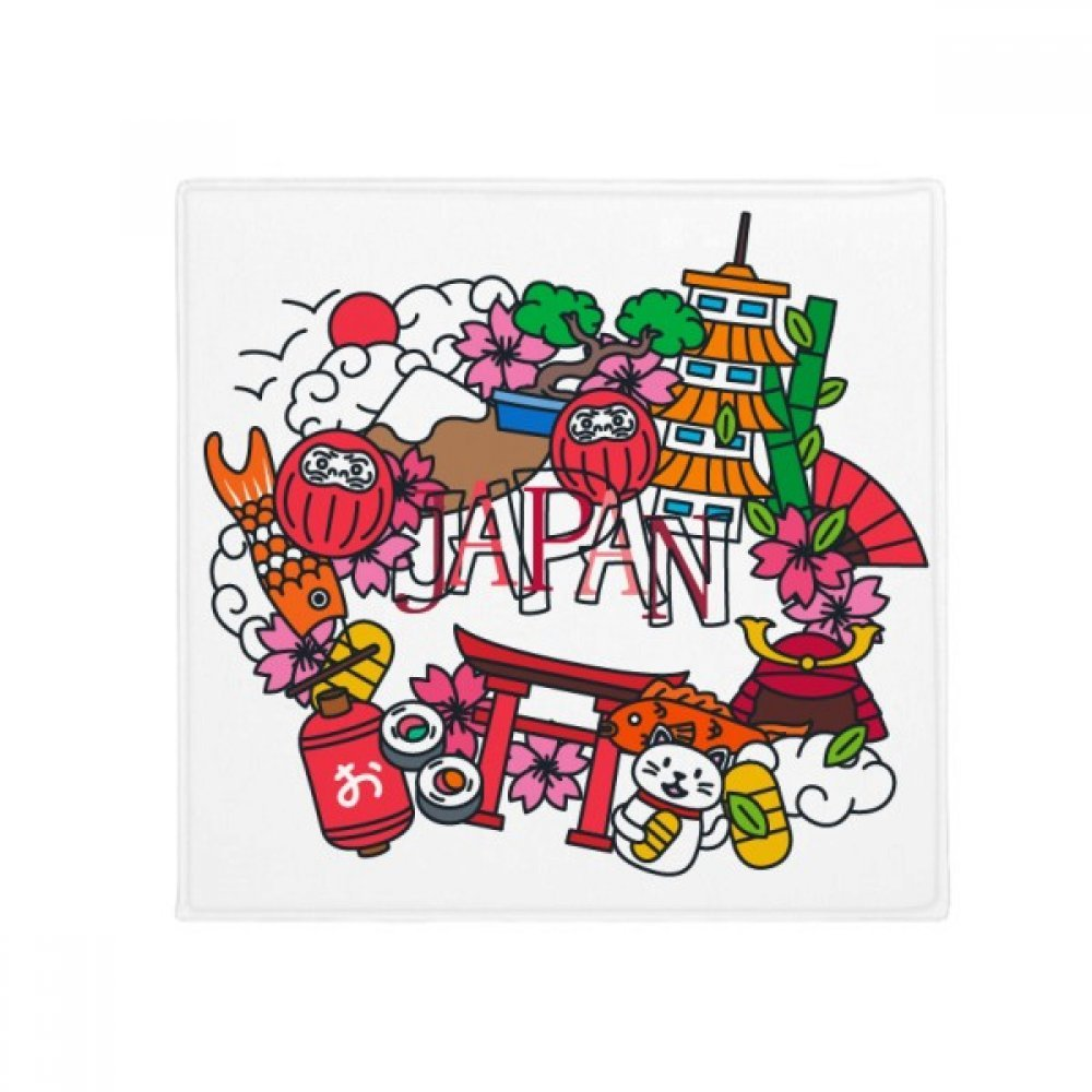 DIYthinker Lucky Cat Sakura Japan Bamboo Anti-Slip Floor Pet Mat Square Home Kitchen Door 80Cm Gift