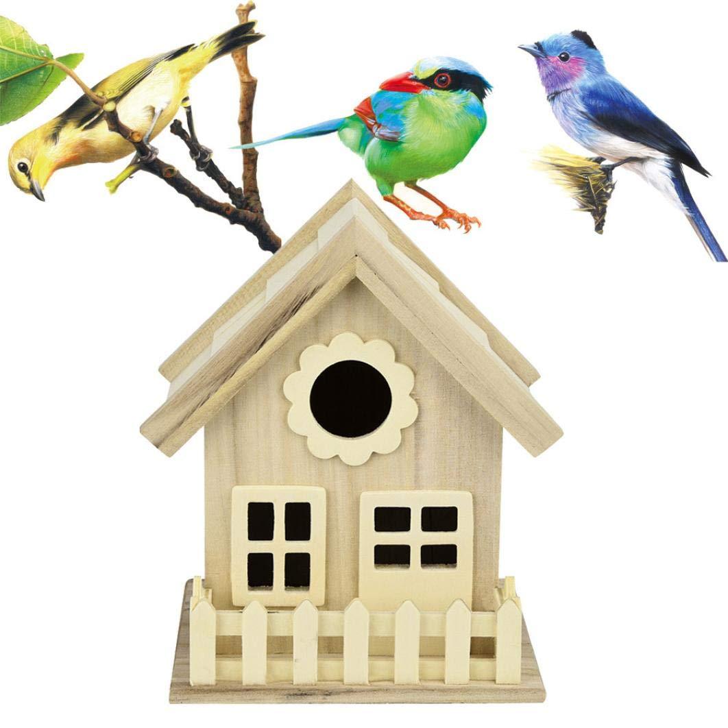LCLrute 2018 Vogel Haus Nest DOX Nest Haus Vogelhaus Vogel Box Vogel Box Holzkiste 17.5x16cm LCLrute Vogel