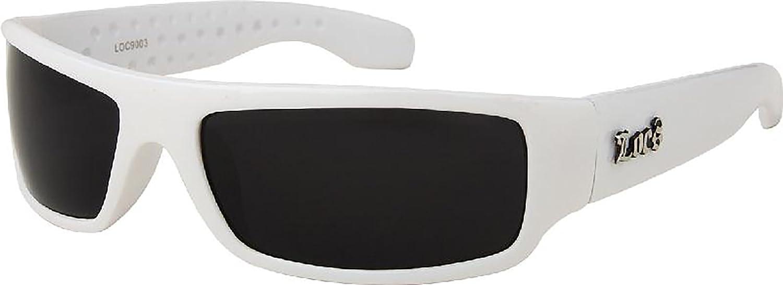 aa1865ae0d77 Amazon.com  White Frame LOCS Hardcore Sunglasses  Sports   Outdoors