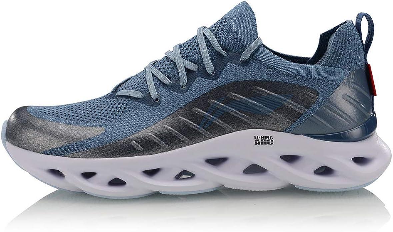 LI-NING ARHP073 - Zapatillas Deportivas para Hombre (Transpirables, Ligeras, cómodas, con Forro de Lana de LN ARC Mono Yarn, (Gray Blue/Lime Blue), 40 EU: Amazon.es: Zapatos y complementos