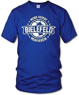 Fan Kapuzenpullover Bielefeld Schwarz Gr/ö/ße S 3XL shirtloge Meine Heimat Mein Verein