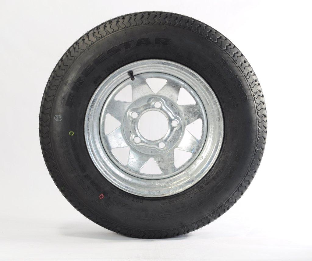 eCustomRim Mounted Radial Trailer Tire & Rim ST175/80R13 13'' Load C 5 Lug Galvanized Spoke