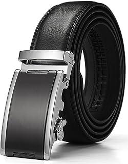 HWZone Cinturón Para Hombre de Cuero Piel con Hebilla Deslizante ...
