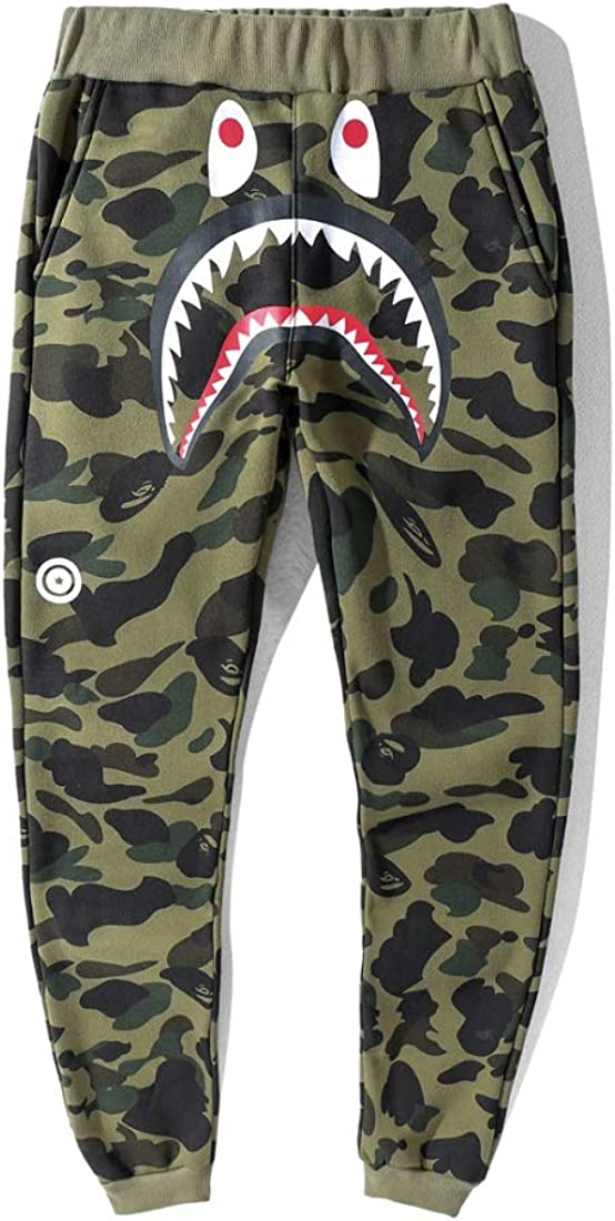 Big Mouth Shark Ape Bape Mens Fashion Casual Sports Jogger Pants