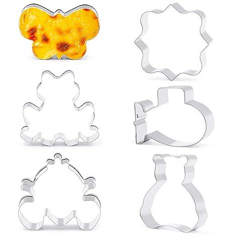 6 pcs para galletas cortador molde, oiolp aluminio aleación hombres de jengibre molde cortador de