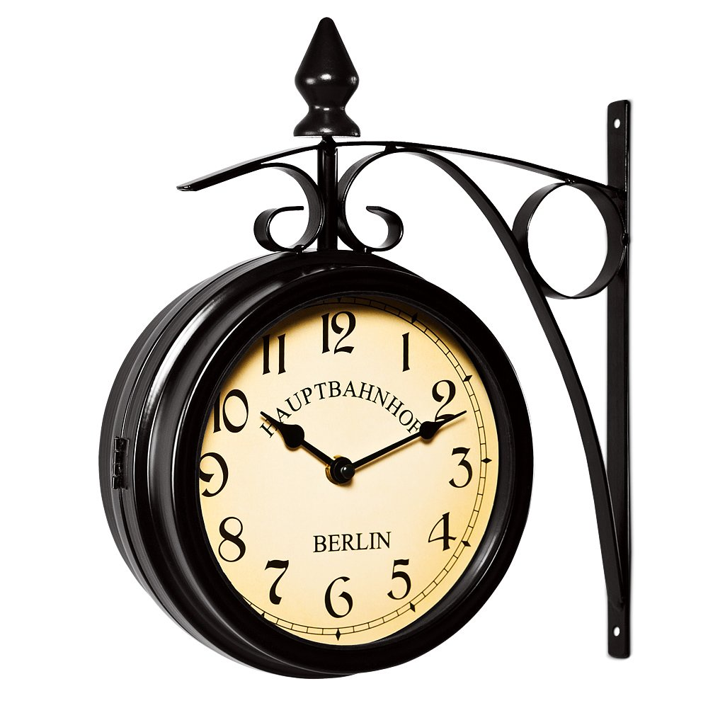 horloge murale style industriel latest horloge murale. Black Bedroom Furniture Sets. Home Design Ideas