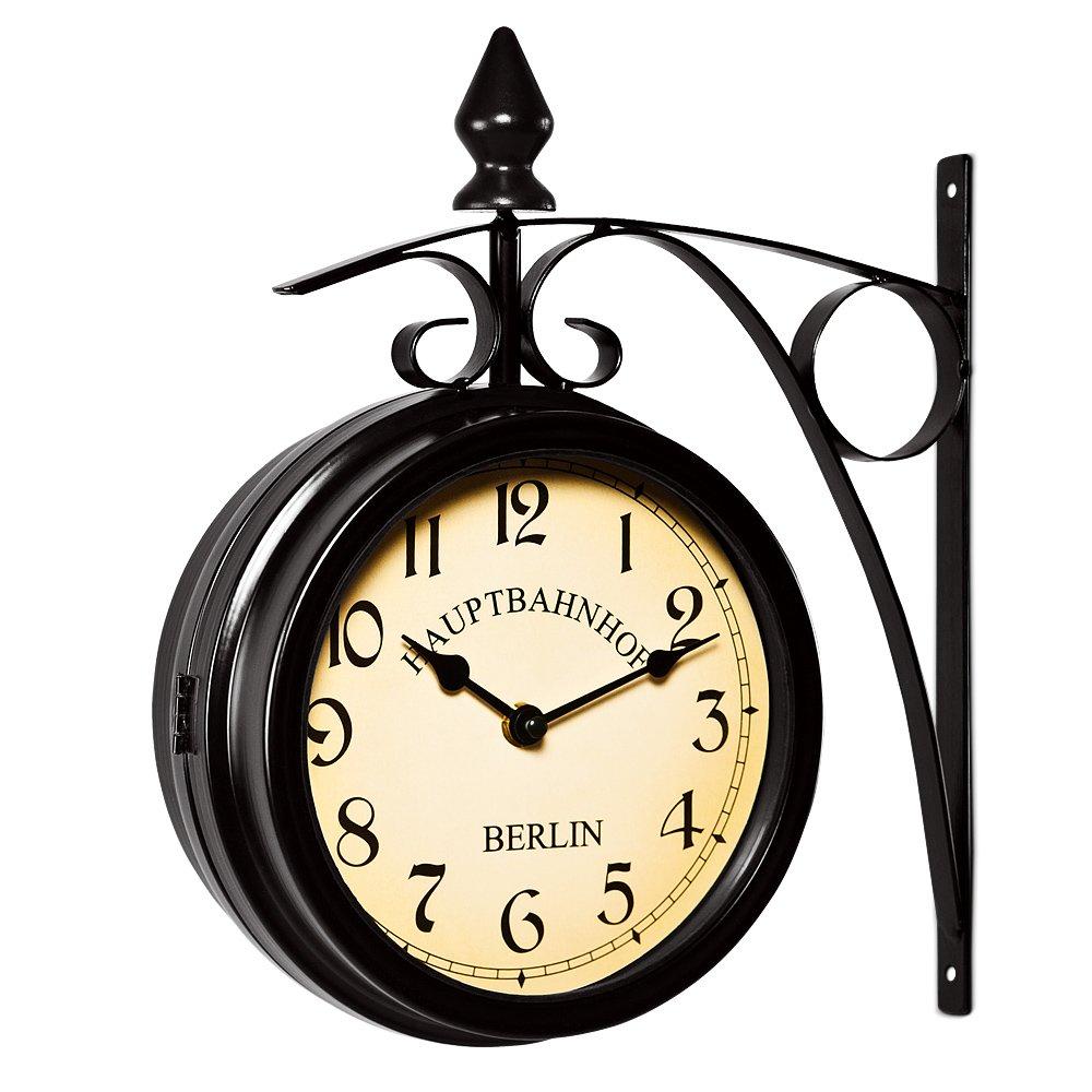 cool horloge de gare noire double sens montre murale amazonfr cuisine u maison with horloge. Black Bedroom Furniture Sets. Home Design Ideas